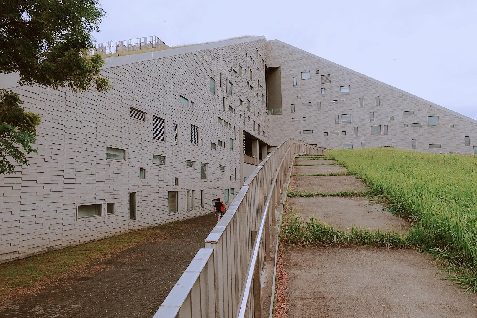 【台東市區】台東大學圖書館|世界八大特色圖書館|超美金字塔外形
