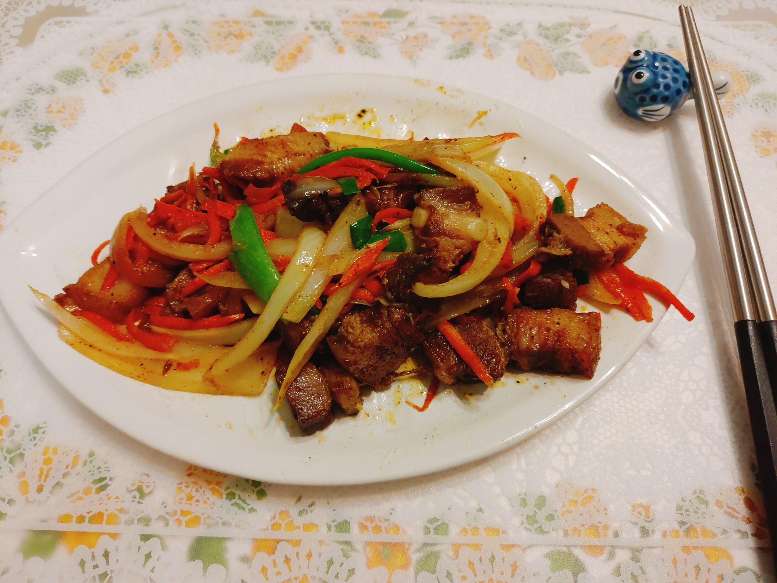 【食譜】炒鹹豬肉|炒起來簡單又健康不重鹹
