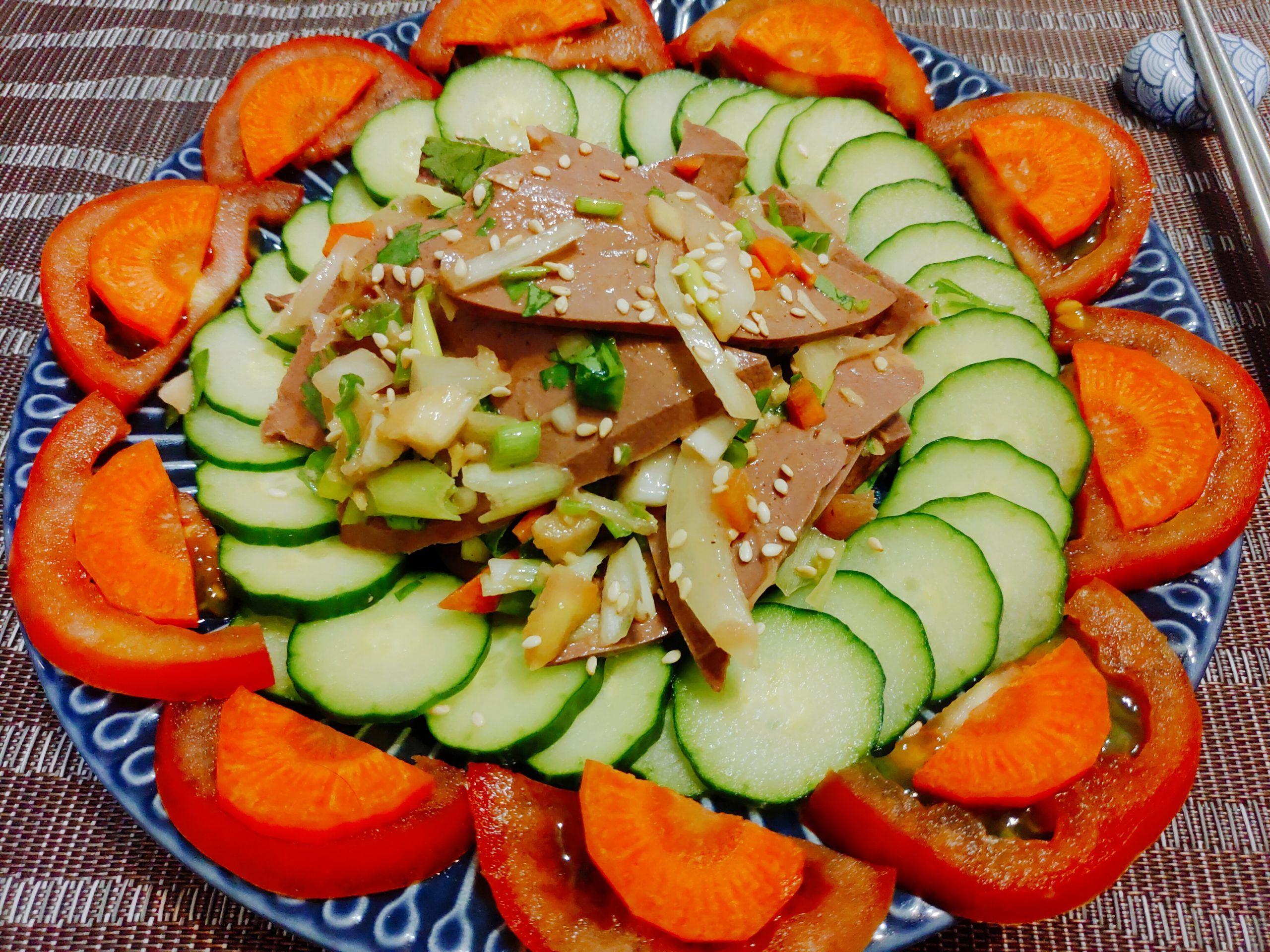 【食譜】涼拌粉肝|清爽蔬菜X軟嫩可口粉肝