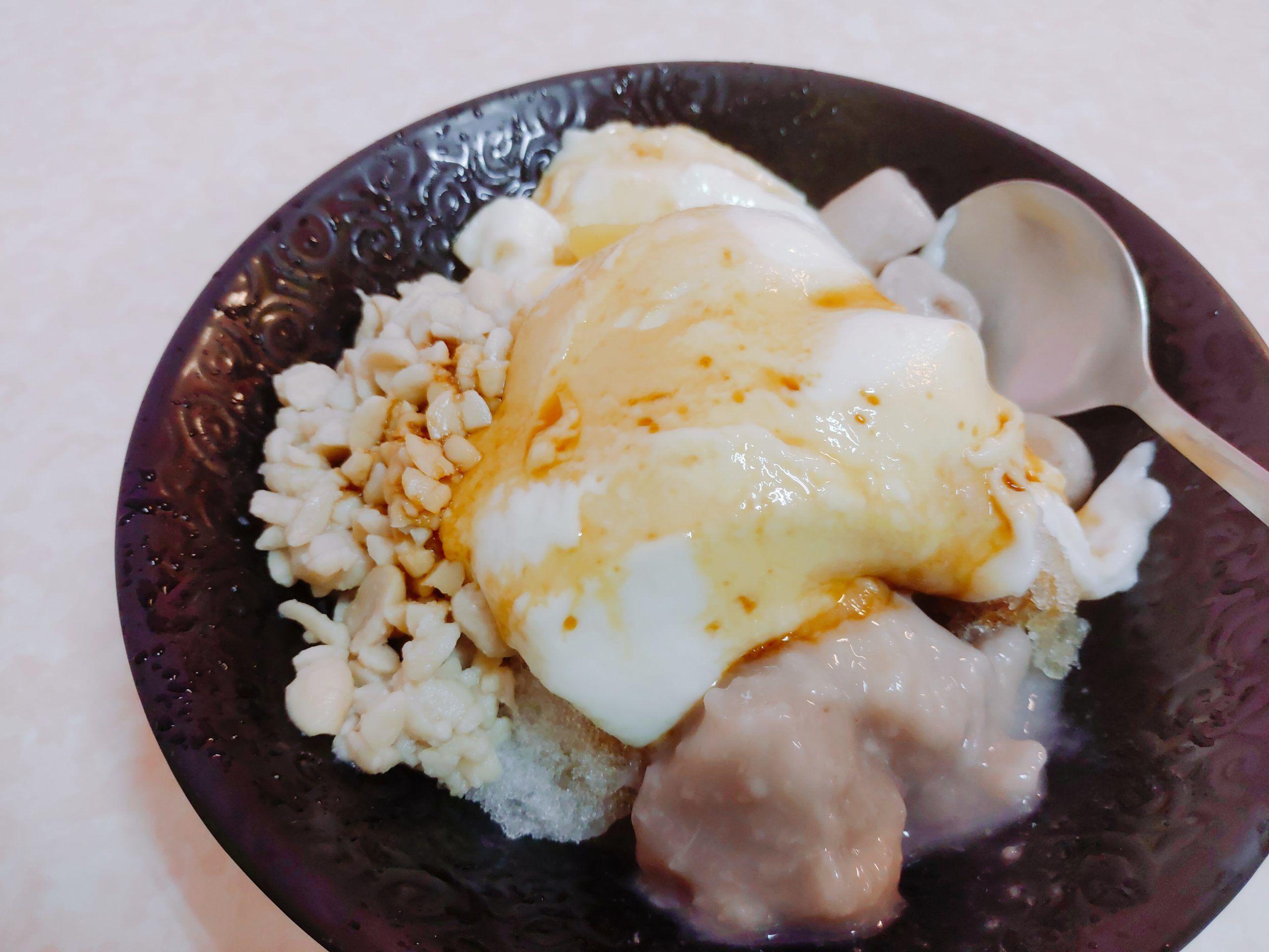 【花蓮瑞穗】鮮奶豆花冰店|綿密可口的鮮奶豆花X古早味的紅豆湯
