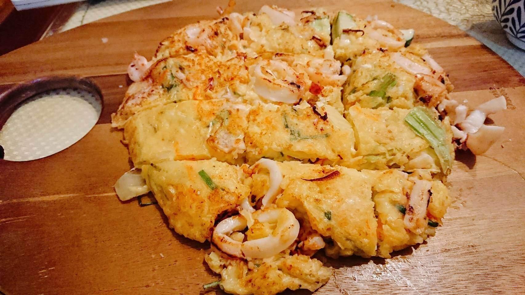 【食譜】非常簡單的韓式海鮮煎餅