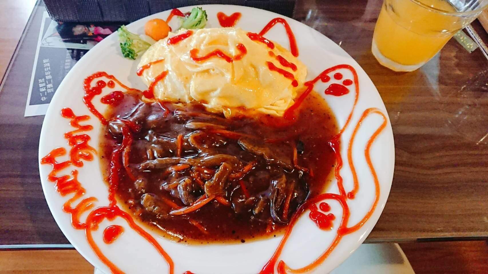 【台北萬華】萌姬女僕咖啡廳|萌萌女僕與超可愛圖畫蛋包飯