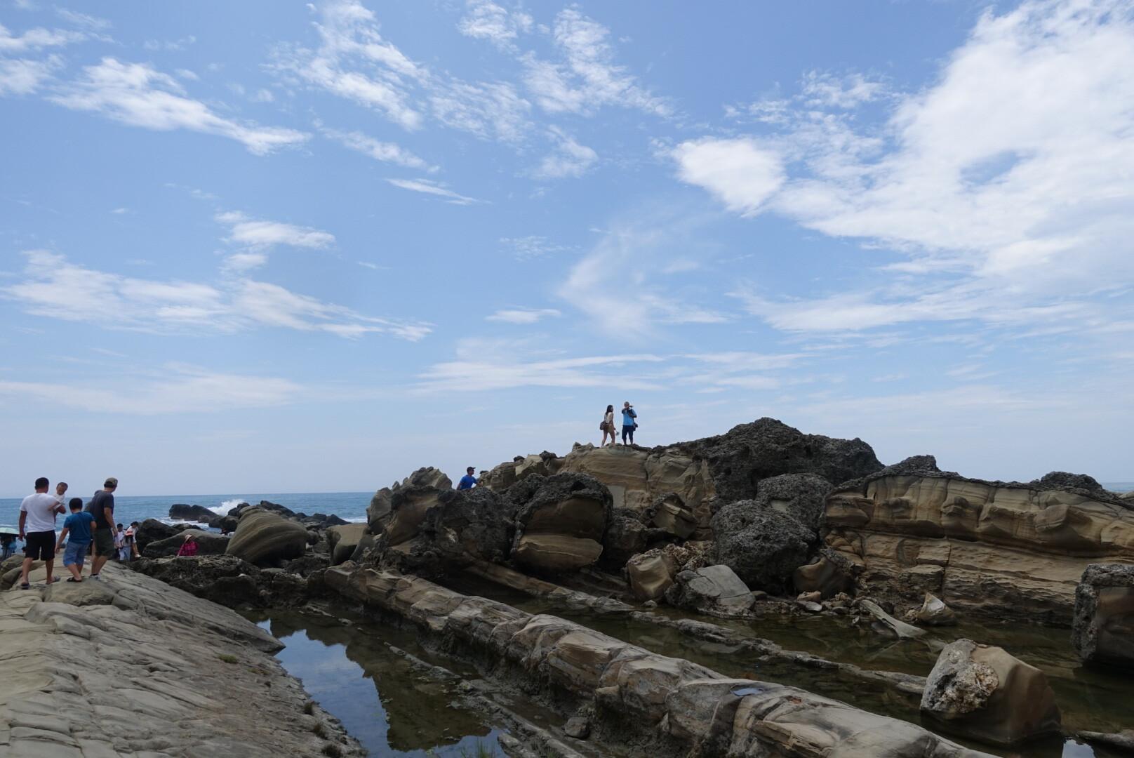 【台東市區】小野柳|大海雕塑的岩石工藝品,獨特的海蝕景致
